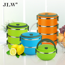 High Quality Multi-layer Bento Lunch Box Thermal Stainless Steel Bowls Lunchbox Thermos Food Container 3 Colors Wholesale