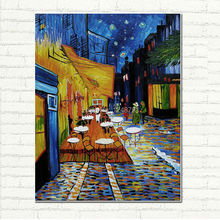 Famous oil painting Cafe Terrace at Night by Van Gogh - Museum Quality Hand Painted Impressionist Oil Painting On Canvas
