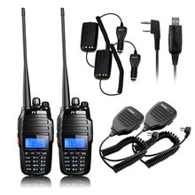 TYT TH-UV8000D 10W Dual Band Transceiver Walkie Talkie Two Way Radio+Baofeng Speaker Mic+Car Charger Cable+USB Programming Cable