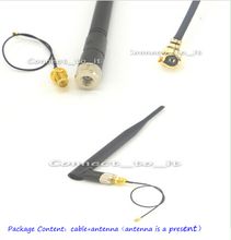 Extension Cord UFL to RP SMA Connector Pigtail Cable IPX to RP-SMA Male SMA to IPX 1.13 17cm for 2.4G 5DB WIFI Antenna