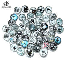 Buy Mixed Luminous snap buttons 20 mm 12pcs/Lot Metal Binging Glass Snaps Fit 18mm Button Bracelets DIY Charms Jewelry for $4.96 in AliExpress store