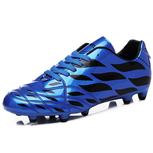 2016 Soccer Football Shoes For Men Kids Cleats Football Boots Blue/Orange/Green Artificial Grass Shoes Athletics Spikes Sneakers