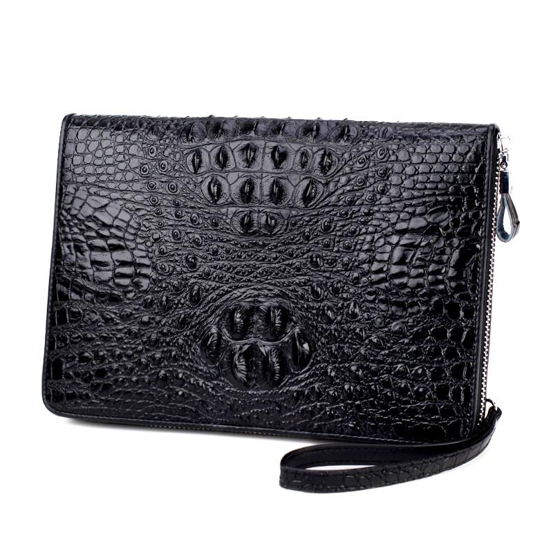 business Fashion style Male Purse Men Wallet Envelope Wristlet bag Clutch Bag Coin pocket genuine Leather alligator hide cowhide<br>
