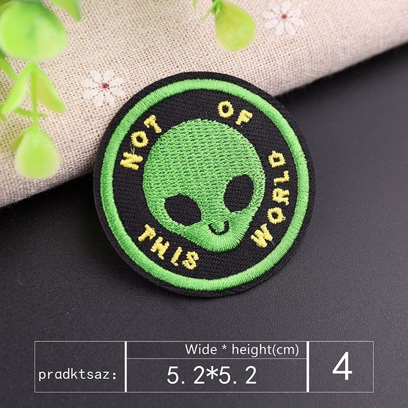 7Pcs Astronaut UFO Iron On Patch Embroidered Applique Clothes Accessory Sticker