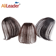 Buy Alileader Short Synthetic Bangs 8 Colors Available Synthetic Hairpieces Hair Women Natural Short Fake Hair Bangs Heat Resistant for $3.59 in AliExpress store