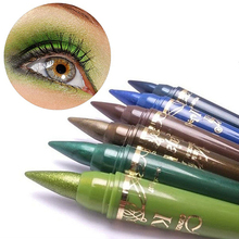 2016 6Pcs/Set Multi-color Glitter Makeup Comestic Eyeshadow Eye Kohl Pencils Set