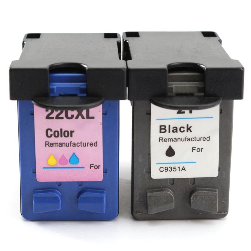 New 2pcs Compatible Ink Cartridges C9352AN For HP 21XL 22XL For HP Deskjet 3915 3920 3930v D1530 D1320 D1311 D1455 Printer<br><br>Aliexpress