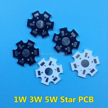 100pcs LED heat sink aluminum base plate 1W 3W 5W high power radiator Use for LED chip beads 20mm Black White PCB Board
