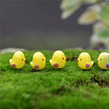 New 5pcs/lot Miniature Fairy Figurines Cute Mini Chick Garden Miniatures Artificial Micro Landscape DIY Resinas Manualidades(China)