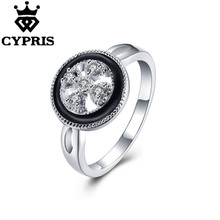 ROULD BASEMENT HOT CERAMIC 2017 CYPRIS New Fashion wholesale price big sale finger ring silver plated stamp women lady gift xmas