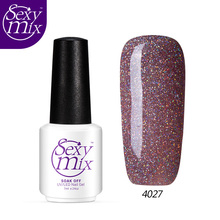 Sexy mix Fashion Color Neon UV Nail Gel Polish Soak Off UV Led Gel Nail Wine Red Color Nail Gel Varnish Base Top Coat Gel Polish