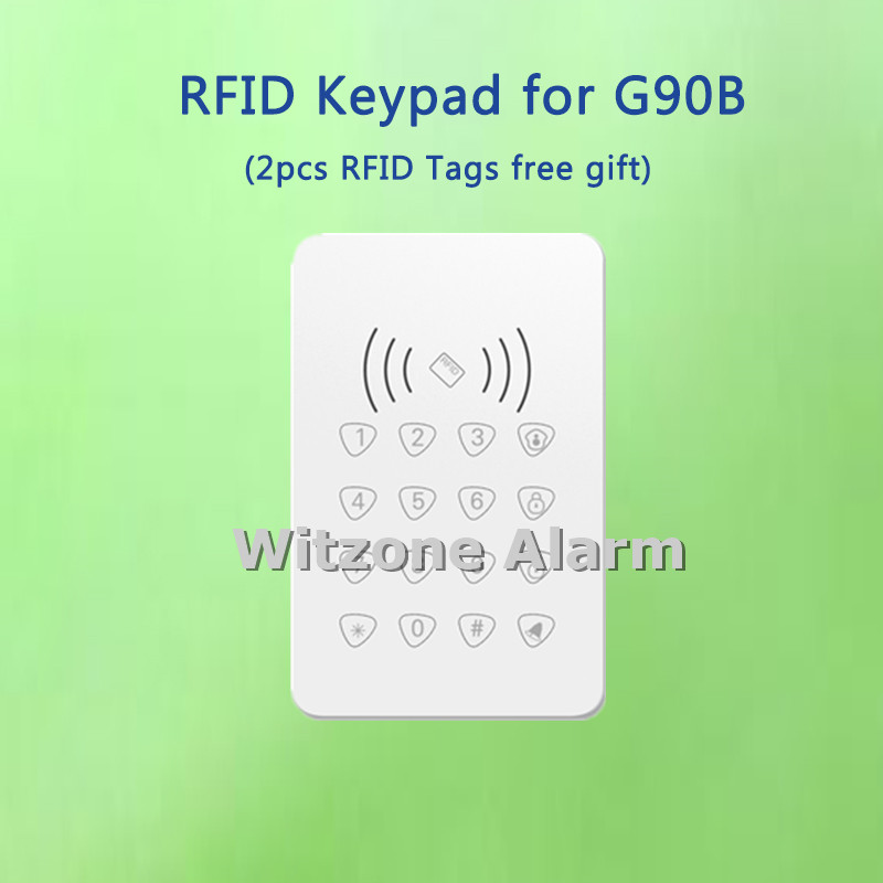 433MHz Wireless Password Keypad For G90E and G90B wifi gsm alarme systems, Support RFID card swipe<br>