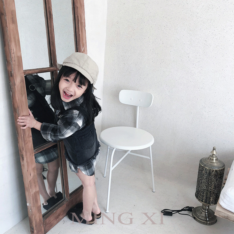2018 spring new childrens fashion suit  girls shirts withdress  jeans two-piece sets<br>