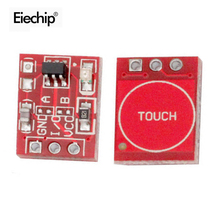10PCS/lot TTP223 Touch Key Switch Module Touching Button Self-Locking/No-Locking Capacitive Switches Single Channel