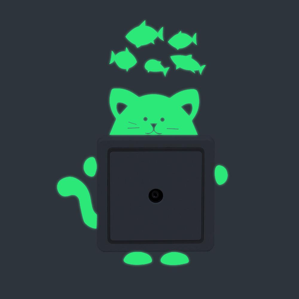 26 Styles Luminous Cartoon Switch Sticker Glow in the Dark Cat Sticker 26 Styles Luminous Cartoon Switch Sticker Glow in the Dark Cat Sticker HTB1EF ydLjM8KJjSZFNq6zQjFXaK