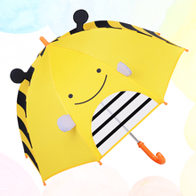 Cartoon Style Child Lovely Light Small Long-handle Umbrella Hanging Kindergarten Girl Boy Outdoor Activities Sunny Rainy Parasol(China)