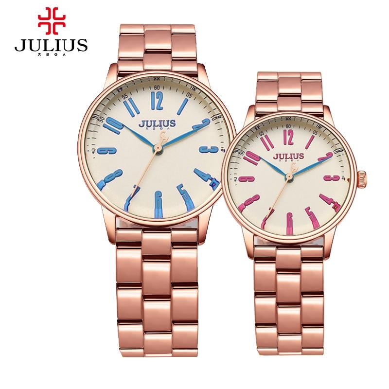 New Julius Mens Womens Wrist Watch Quartz Hours Best Fashion Dress Business Bracelet Stainless Steel Lovers Couple Gift 859<br><br>Aliexpress