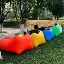 Banana or square shape in stock! Sleeping Bag Camping Air Sofa Hangout Lazy Bag Inflatable Air Bed Waterproof Beach Bed Laybag