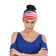 Woman And Man Flag stripe Head Bands Outside Sport Seamless Scarf Veil Motorcycle Cool Headband Skull Bandanas Multi-function(China)