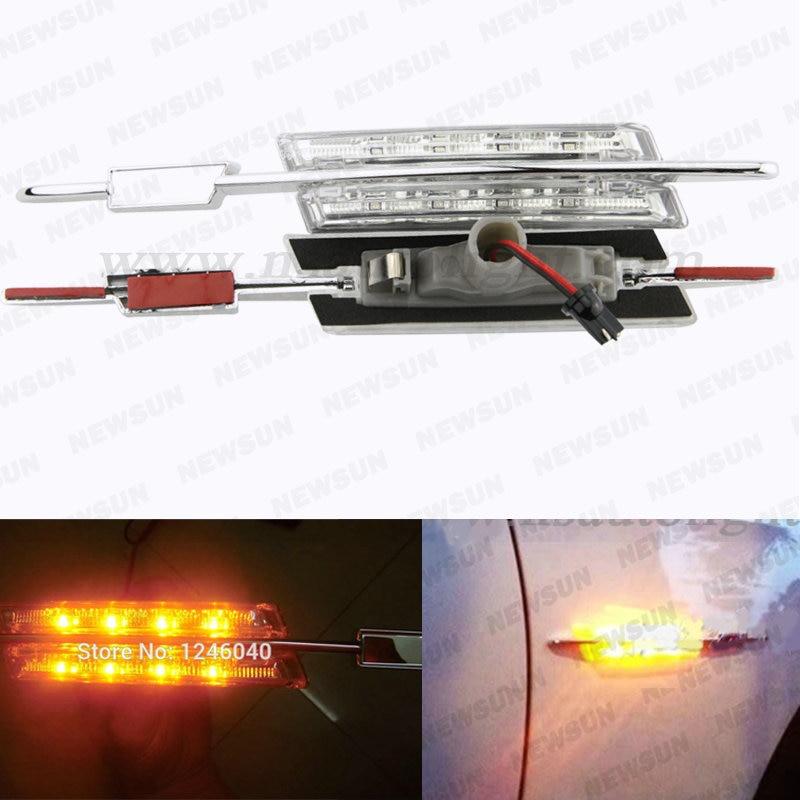 2015 Car parking led turn light steering lamp, 12V bright E46 LED Side Light/Side Marker Turn signal Lights for BMW E46 2D/4D/5D<br><br>Aliexpress