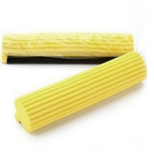 1 Piece Floor Cleaning Mop Heads Sponge Mop Head Refill Mop Replacement Mop Household Cleaning Tools Yellow