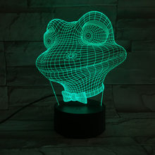 LED fairy light Frog night lights 7 Colors Table Lamp USB Touch Button Luminous BULBING Optical Illusion camping Creative Gadget