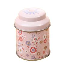 5*7CM Lacquer Europe Style Round Tea Box Candy Storage Tin Box Organizer Wedding Party Container Decor Theedoos Organizador