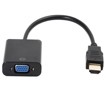 New Arrival Hot Sell 1080P HDMI Male to VGA Female Video Converter Adapter Cable for PC DVD HDTV TV 592M 7BBM(China)