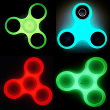 Buy 4 style FIDGET SPINNER GLOW IN THE DARK EDC FINGER SPINNER camo gyroscope HAND SPINNER lumineux spinner led kid adult toys for $2.80 in AliExpress store