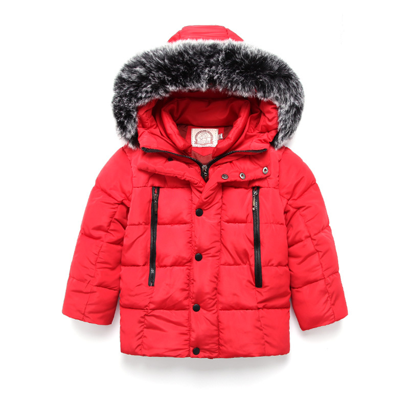 Baby Boy Coat Children Outerwear Coat pure color Boy Jacket Baby Girls Coat Warm Hooded Children Kids Spring clothes red black<br>