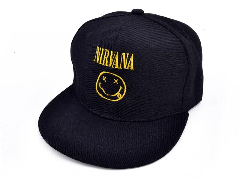 NIRVANA Rock Band Baseball Caps Nevermind Letter Embroidery Smells ... fbc687f0d84b