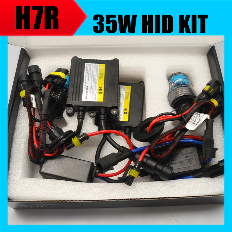 2016 new 10 sets 35W 12V H7R hid xenon kit lamp bulbs with ballasts auto headlight sets H7R metal base coating layer 4300K-8000K<br>