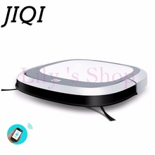 JIQI Intelligent Robot Vacuum Cleaner Slim HEPA Filter Cliff Sensor Remote control Self-Charge wet mopping sweeper Dust catcher