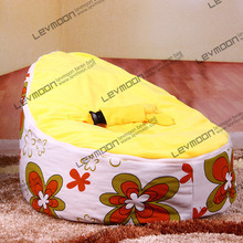 FREE SHIPPING baby seat cover with 2pcs golden up cover baby bean bags cover baby bean bag seat waterproof beanbag seat baby(China)