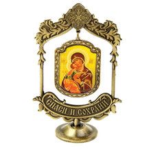 "Party supplies.metal arts & crafts. suspension Furnishing articles.""Vladimir"" icon handicraft Russia.custom made holiday gift"