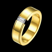 High-End Fashion 24k Gold Ring Male Female Romantic Engagement Rings