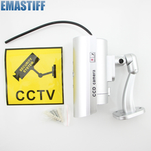Waterproof Dummy CCTV Camera With Flashing LED Light For Outdoor or Indoor Realistic Looking Fack Camera for Security