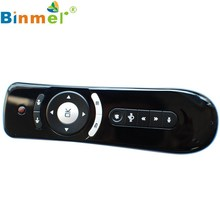 Binmer Mini Fly Air Mouse with Gyroscope T2 2.4G Wireless 3D Remote Sensing airmouse for Smart TV Top Quality Feb 6
