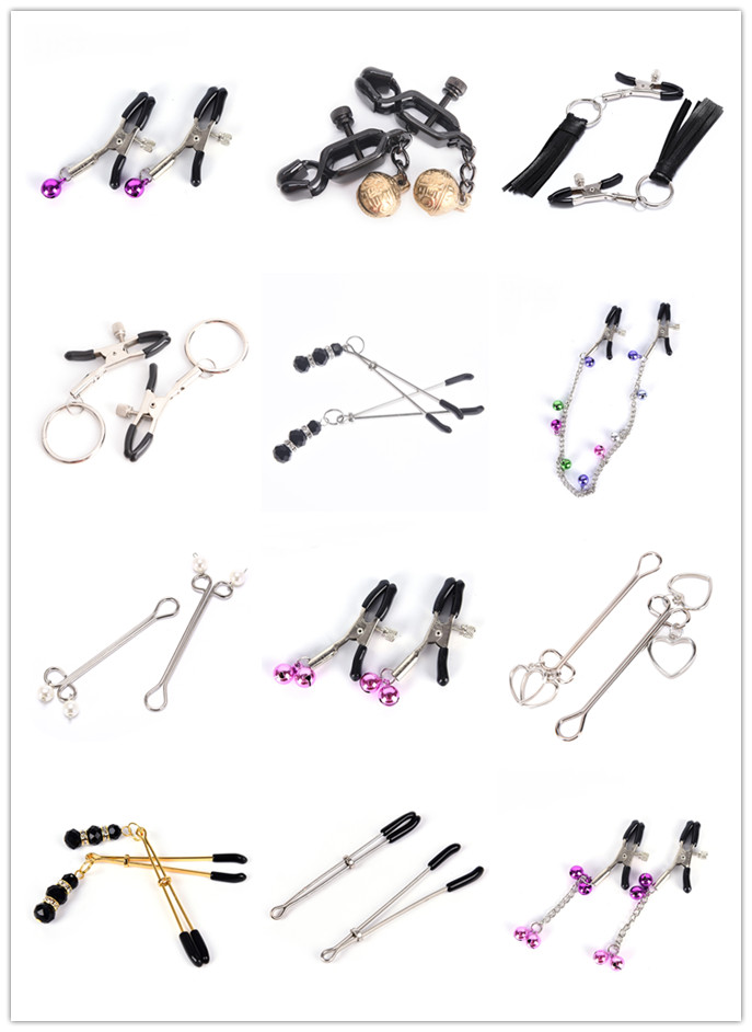 Nipple Clamps With Metal Chain Flirting Teasing Sex Flirt Kit Nipple Clamps Slave Bdsm Milk Clip Breast Clip Exotic Accessories