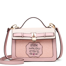 2017 novelty korean style girl sweet single shoulder messenger bag summer cute lady crossbody bag pink tote handbag