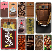 Lavaza chocolate Willy Wonka Bar With Golden Ticket Hard Case for Samsung Galaxy S8 Plus S3 S4 S5 & Mini S7 Edge S6 Edge Plus(China)