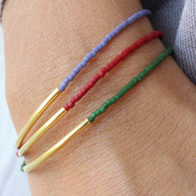 Multi color selection Beaded Bracelet Simple jewelry  Women Best selling Jewelry  SH057
