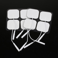100pcs tens Transcutaneous massager Electrical Nerve Stimulation electrodes pads 4*4cm hight quality electroestimulador reusable(China)