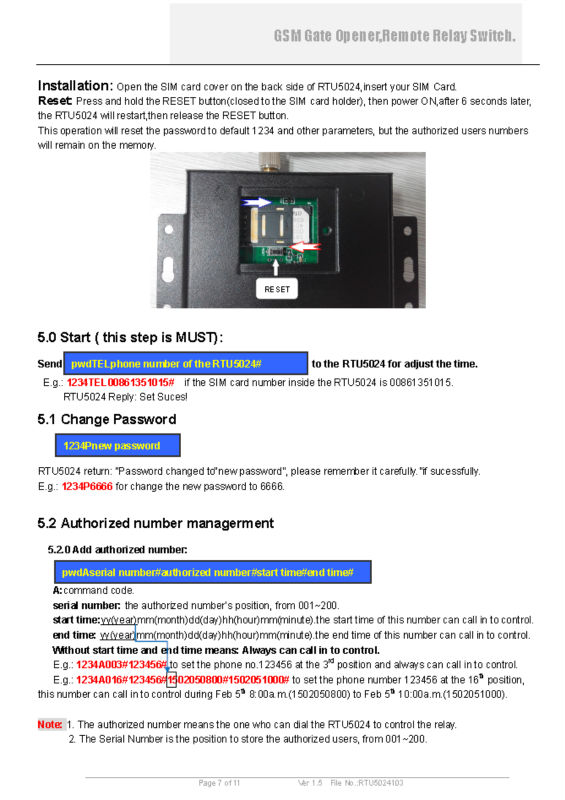 GSM SMS Access Controller ,Quad-band, can work in the worldwide GSM networks RTU5024 <br>
