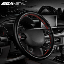 Car Steering Wheel Covers MicroFiber Leather Auto Universal Steering Wheel Cover For Honda Civic Car Styling Auto Accessories(China)