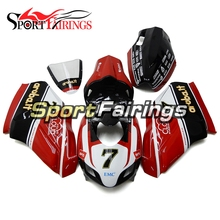 Fiberglass Racing Fairing Kits For Ducati Monoposto 999 749 999s 749s 05 06 2005 2006 Cowlings Red White Sportbike Bodywork New(China)