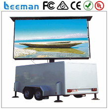 Leeman HD RGB P10 outdoor mobile trailer LED display sign for video advertising from Shenzhen outdoor advertising led screen