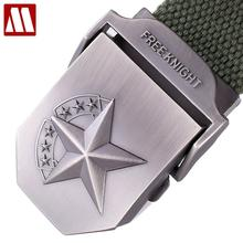 Hot 3D Star Metal Buckle Military Belt Fashion Strong Canvas Army Tactical Belts Men's Top Quality Belts Luxury Strap 20 Colors(China)