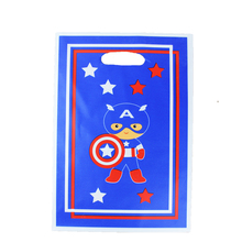 12pcs Loot Bag for Kids Birthday/festival Party Decoration Captain America Theme Party Supplies Candy Bag Shopping Gift Bag(China)