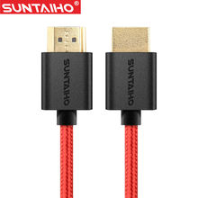 Suntaiho Cable HDMI 10m 5m 3m 2m 1m to HDMI cable HDMI 4k Gold Plated Plug 1.4v 3D for for mac pro smart tv ps4 xbox